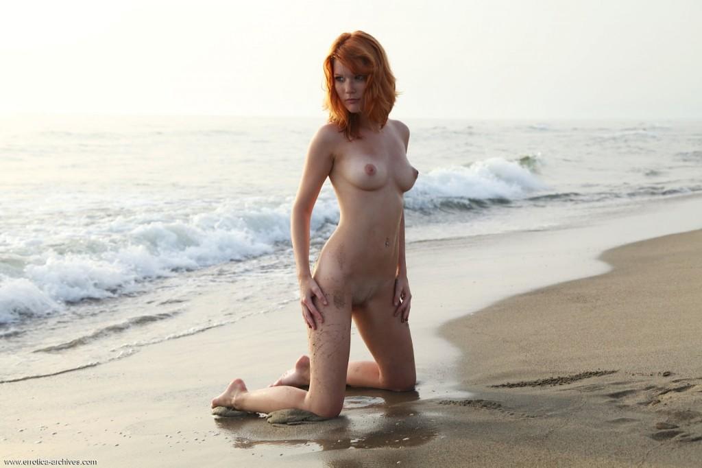 Fajna ruda na plaży