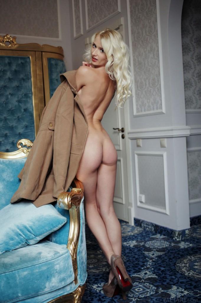 Zmysłowa blondynka