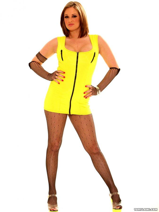 Wamp w żółtej sukience