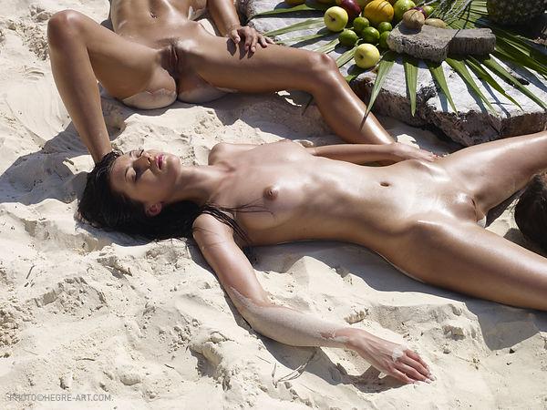 Pięć lasek na plaży