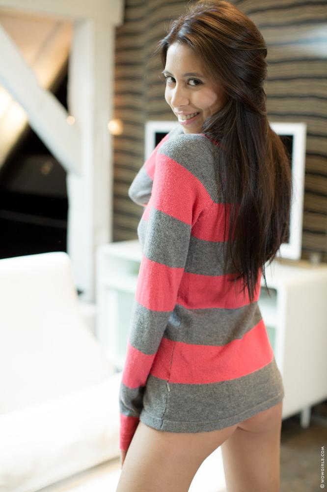 W sweterku