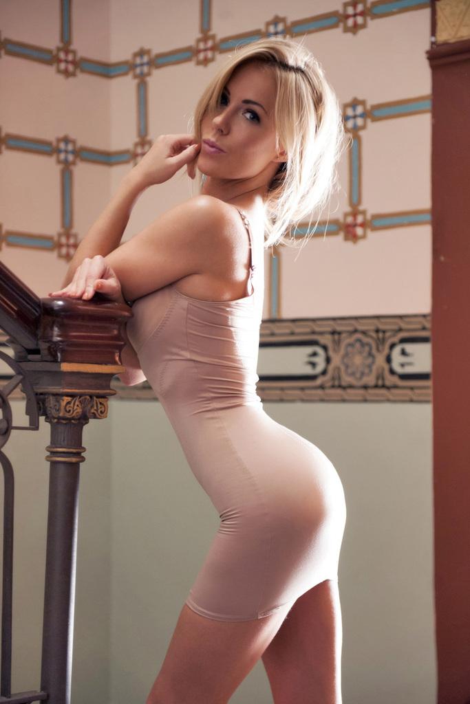 Blondi na schodach