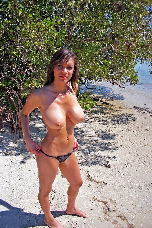 Big tits bikini beach
