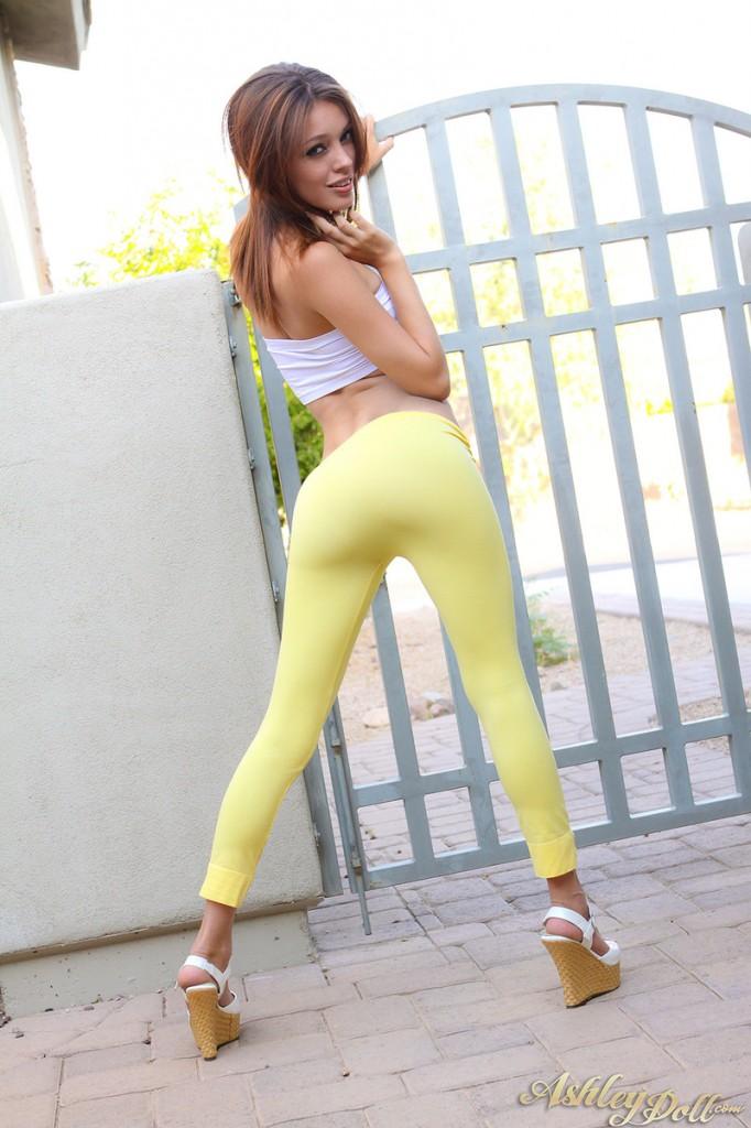 Żółte leginsy