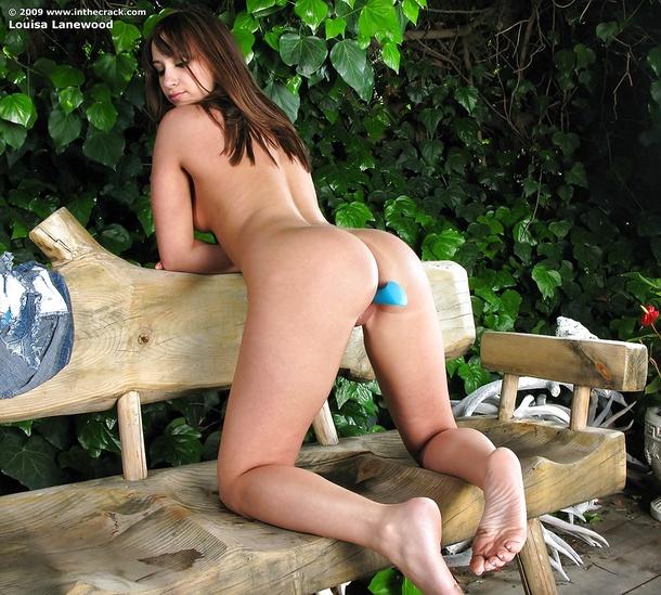 Louisa w ogrodzie