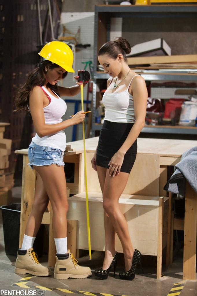 Daisy i Celeste w pracy