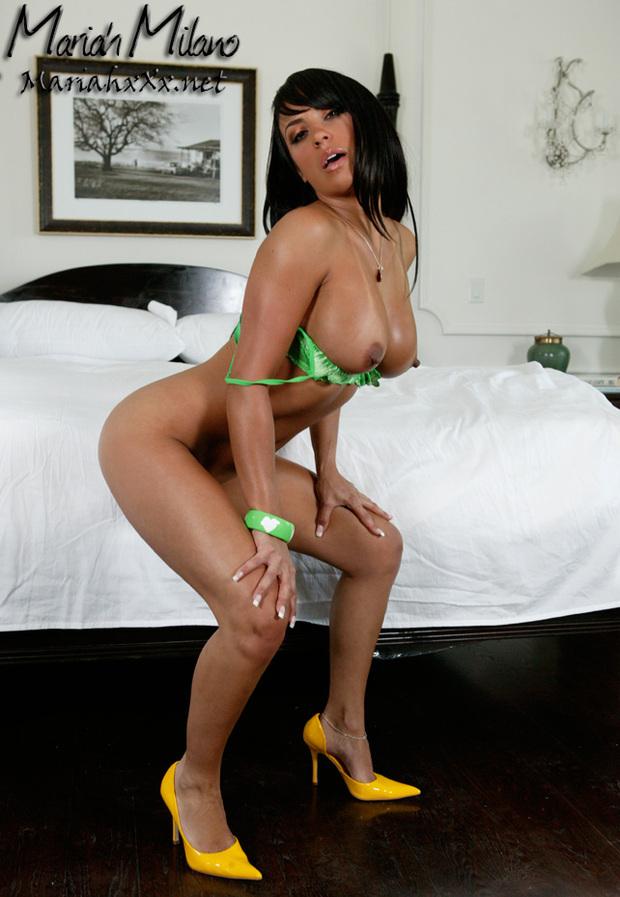 Mariah w zielonej bieliźnie
