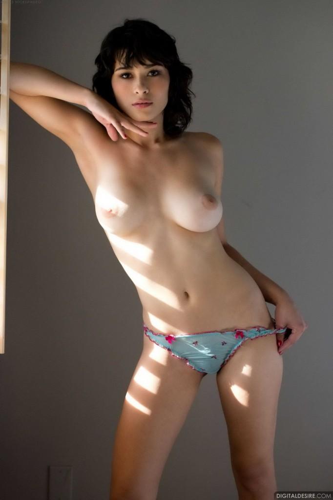 Owłosiona szparka modelki