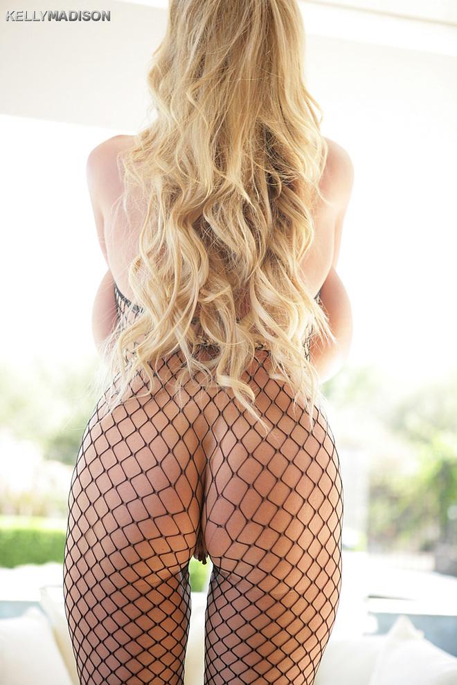Blondyna w siateczce