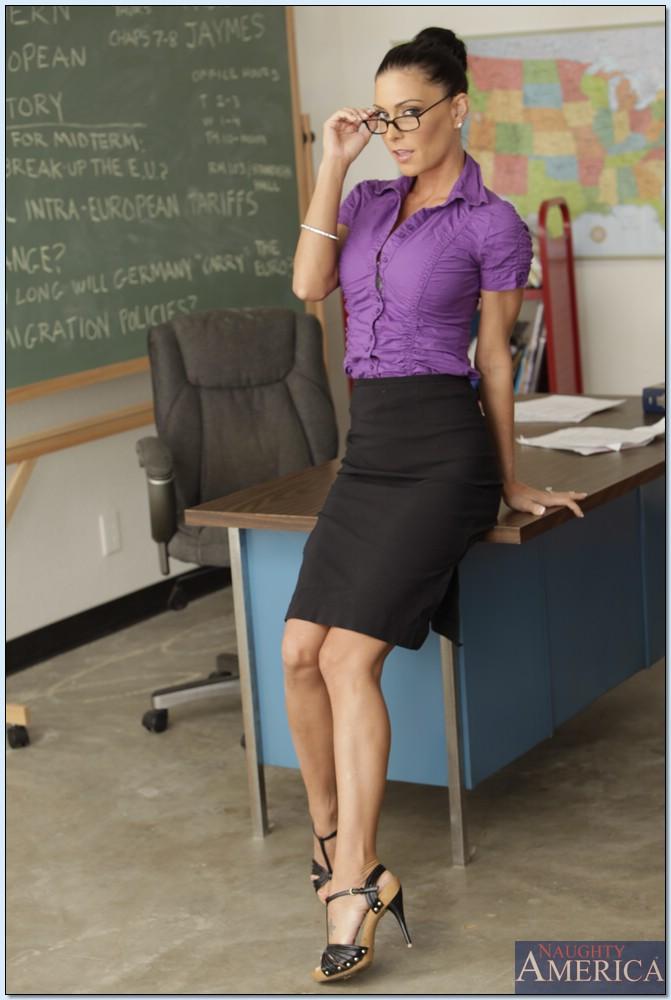 Rozpalona nauczycielka