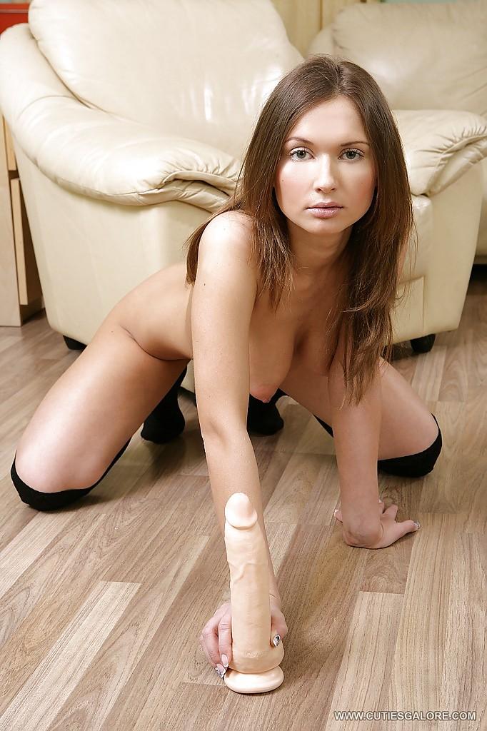 Studentka z dildo