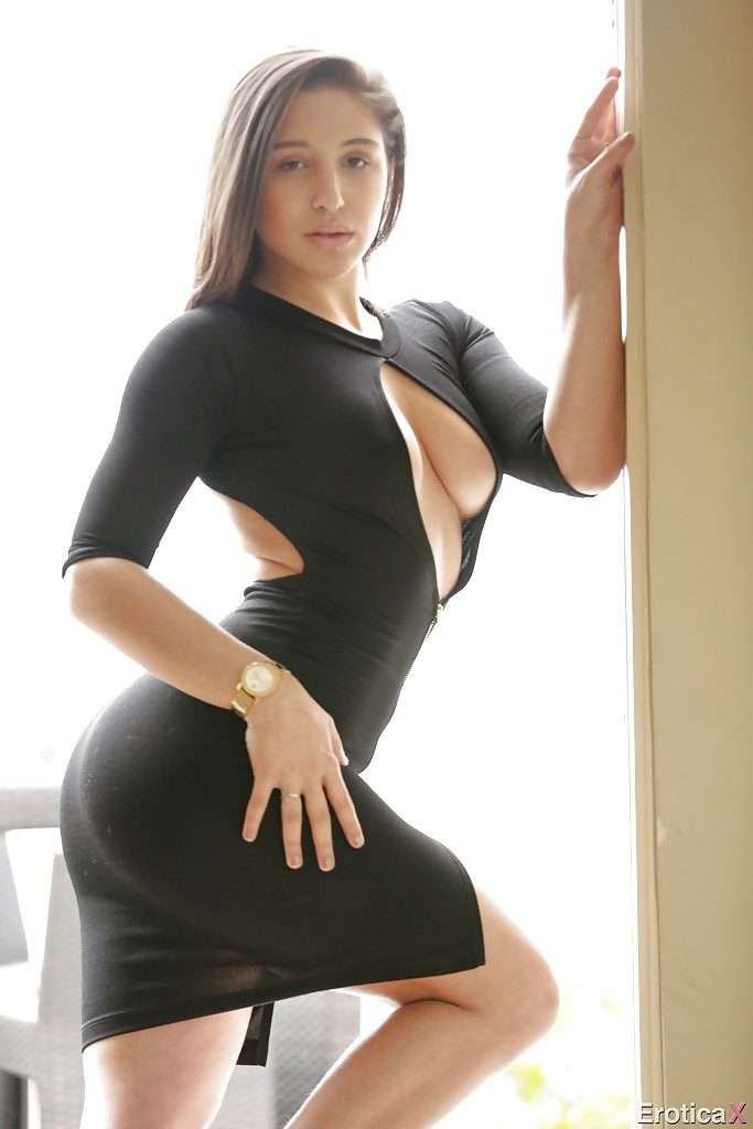 Curious Sexy black dress porn